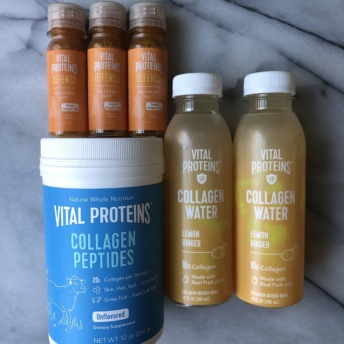 Collagen peptides and collagen water by Vital Proteins