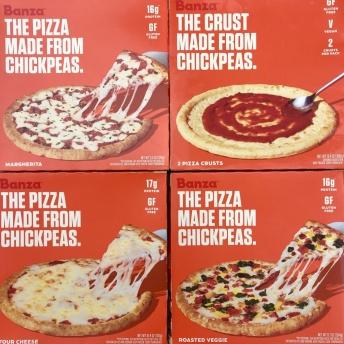 Gluten-free chickpea pizza from Banza