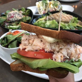 Gluten-free crab and lobster roll from OC Brewhouse