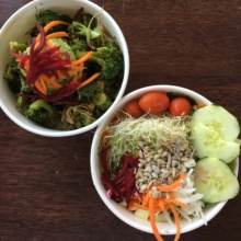 Gluten-free vegan salads from The Stand Natural Foods