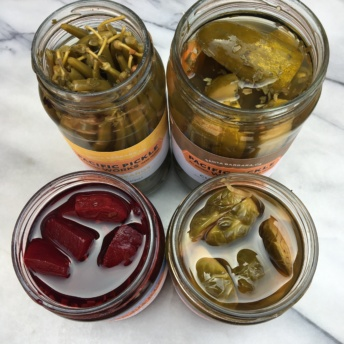 4 jars of pickled veggies from Pacific Pickle Works