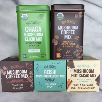Mushroom coffee mixes from Four Sigmatic