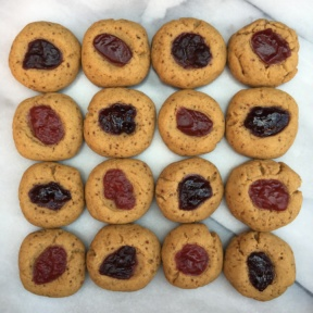 Gluten-free Jam Thumbprint Cookies using Crofters Organic