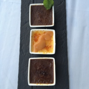 Trio of gluten-free creme brulee from Chart House