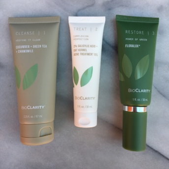 Three skincare steps by BioClarity