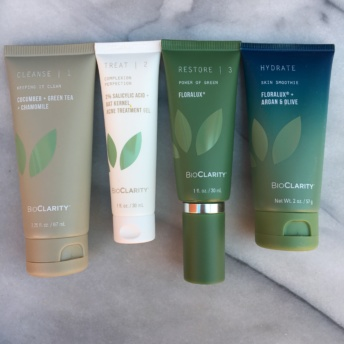 Four gluten-free and vegan skin products by BioClarity