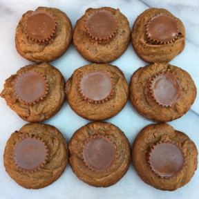 Nine Peanut Butter Cup Cookies