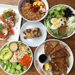 A big gluten-free spread at GOODONYA
