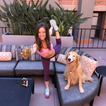 Jackie and Odie enjoying bone broth from Kettle & Fire