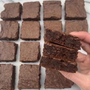 Stack of gluten-free dairy-free Brownies