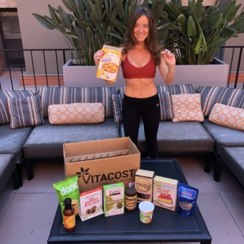 Jackie enjoying products from Vitacost