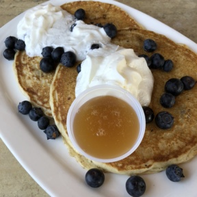 Blueberry pancakes from Jewel's Bakery and Cafe