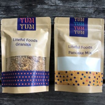 Gluten-free granola and pancake mixes from Liteful Foods