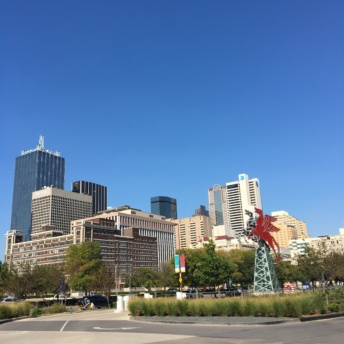 Downtown Dallas in Sept 2017