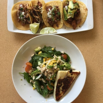 Gluten free tacos and salad from Urban Taco