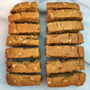 14 slices of Maple Walnut Banana Bread