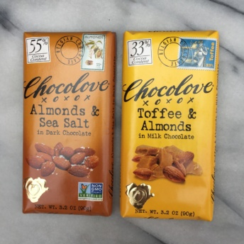 Gluten-free chocolate bars by Chocolove