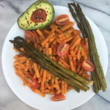 Gluten-free Vegetarian Pasta with Green Veggies