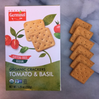 Gluten-free organic crackers by Germinal