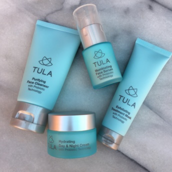 Gluten-free skincare products by Tula