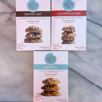 Gluten-free cookie mixes by Meli's Monster Cookies