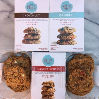 Gluten-free cookies and mixes by Meli's Monster Cookies