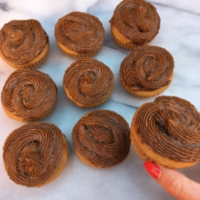 Gluten-free Double Maple Cupcakes using maple syrup