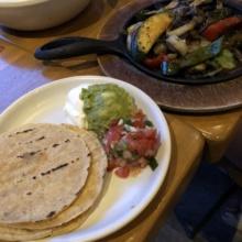 Vegetable fajitas from Blancos Tacos + Tequila