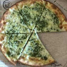 Gluten-free pesto pizza from Fired Pie