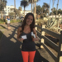 Jackie in Santa Monica with Ayr Skin Care