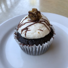 Cookie dough cupcake from Jewel's Bakery and Cafe