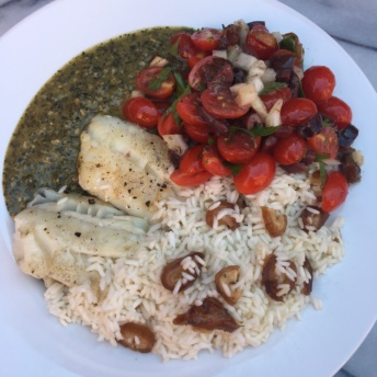 Mediterranean cod and sides from Green Chef