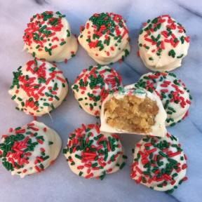 Ten Christmas Sugar Cookie Truffles