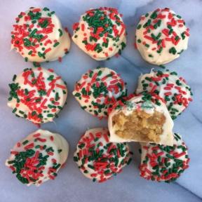 Gluten-free Christmas Sugar Cookie Truffles