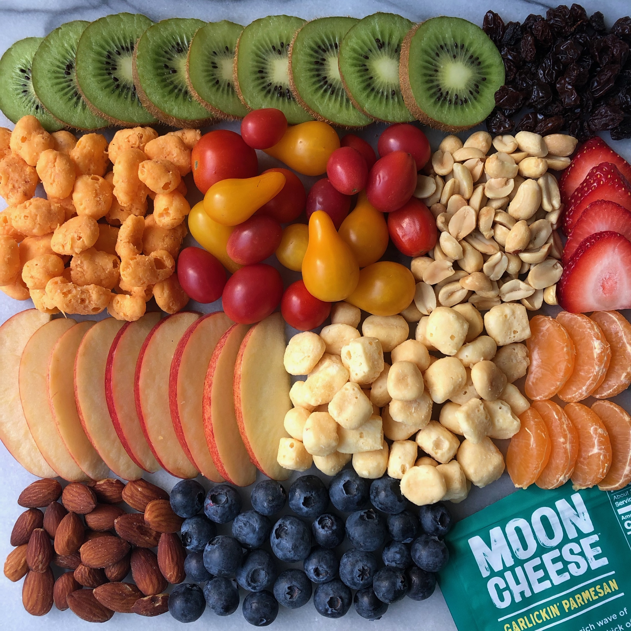 Gluten-free platter with Moon Cheese
