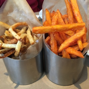 Gluten-free fries from 5 Napkin Burger