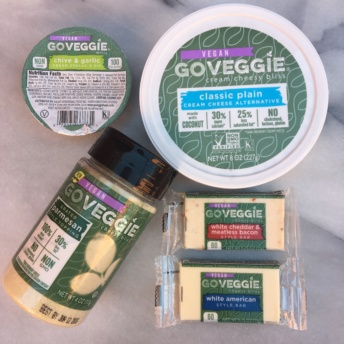 Gluten-free vegan cream cheese and cheese by GO VEGGIE