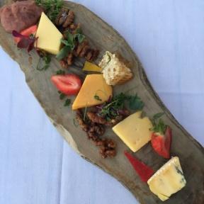 Gluten-free cheese platter from Aroha