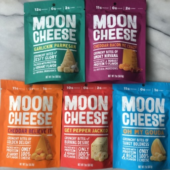 Gluten-free cheese snacks by Moon Cheese