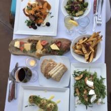 Gluten-free dinner spread from Aroha