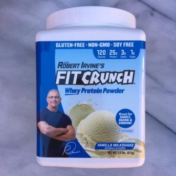 Gluten-free vanilla protein powder by FIT Crunch