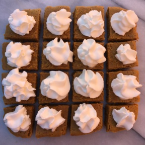 Pumpkin Squares with whipped cream