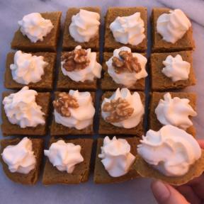 Gluten-free Pumpkin Squares with walnuts