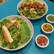 Gluten-free salads from Cocina del Sur