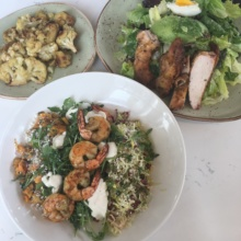 Gluten-free lunch spread from Tender Greens
