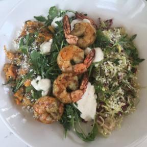 Gluten-free shrimp bowl from Tender Greens