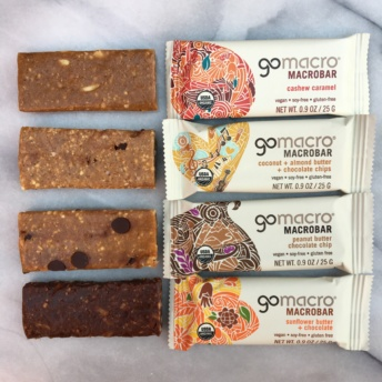 Gluten-free vegan bars from GoMacro