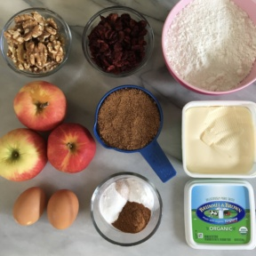 Ingredients to make Cran-Apple Muffins