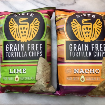 Gluten-free chips from Siete Foods