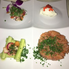 Gluten-free salmon from La Panetiere